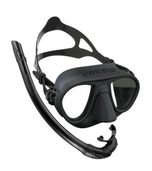 Cressi Calibro Corsica Mask Snorkel Set Black