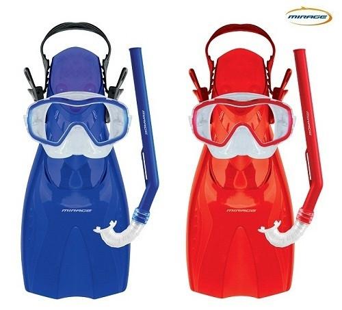 Mirage Shrimp Junior Silitex Mask Snorkel Fins Set
