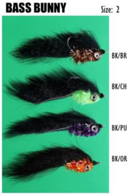 Felty's Flies Bass Bunny BL/OR