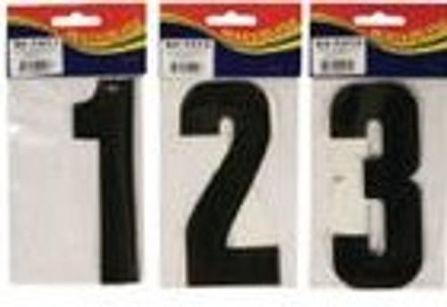 """Waterline Registration Numbers 6"""" Black - 2 Pack"""