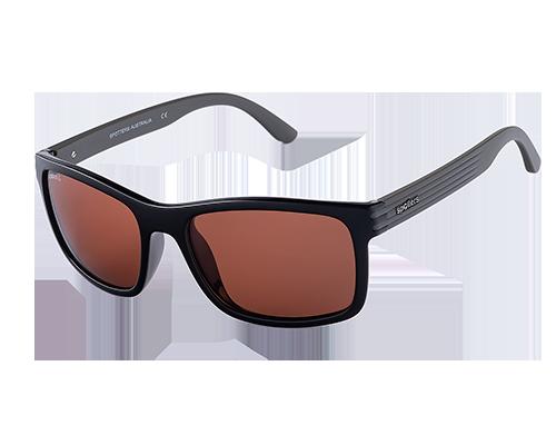 Spotters Chill Gloss/Matte Black Hybrid Crown Glass Lens Sunglasses