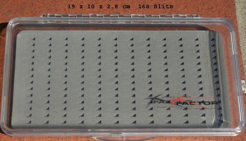 X Factor Slit Foam Clear 168 Fly Box