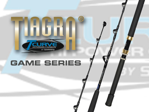 Shimano T-Curve Tiagra Overhead 37kg Stand Up Straight Butt Game Rod