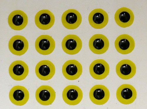 Mango Fishing Jurassic Eyes - Hot Yellow Black 8mm