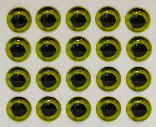 Mango Fishing Live Eyes - Hot Yellow 10mm
