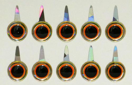 Mango Fishing Tie Down Eyes - Mirage Orange Black 8mm