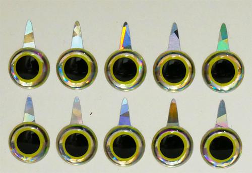 Mango Fishing Tie Down Eyes - Mirage Yellow Black 8mm