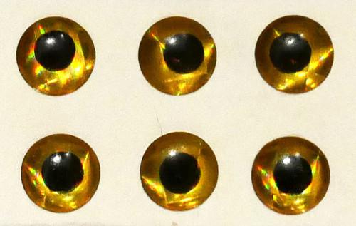 """Wapsi Hologram Eyes - Gold 1/4"""""""