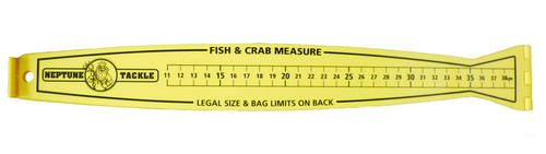 Neptune Tackle Foldable Double Sided Ruler 80cm