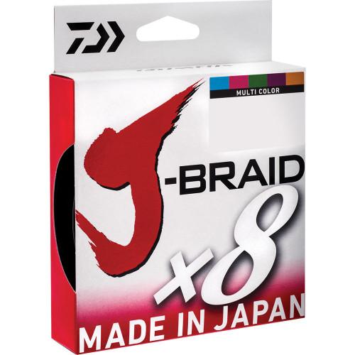 Daiwa J Braid X8 Multi Colour 300m