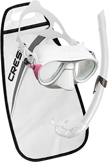Cressi Calibro Corsica Mask Snorkel Set White