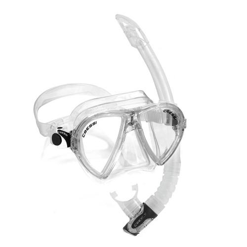 Cressi Ocean VIP Mask Snorkel Set Clear