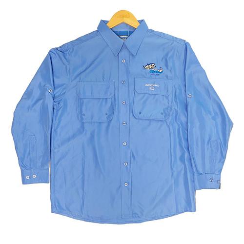 Samaki X TWAM Breeze Vented Long Sleeve Shirt - Pacific Blue