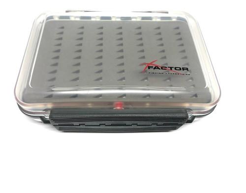 X Factor Slit Foam Clear Waterproof Double Sided 12cm x 9cm x 4.5cm Fly Box