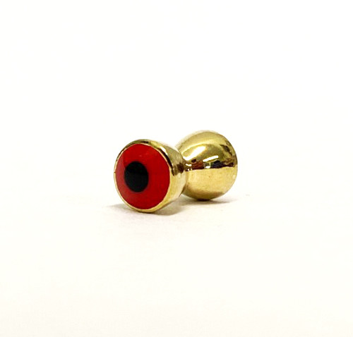 EJ Todd Brass Hourglass Eyes Red Gold