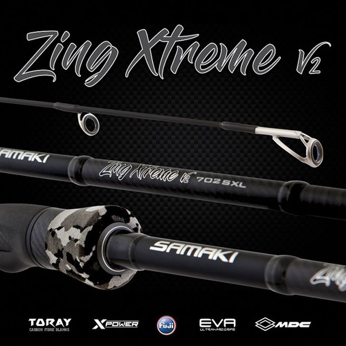 Samaki Zing Xtreme V2 Baitcast Rod