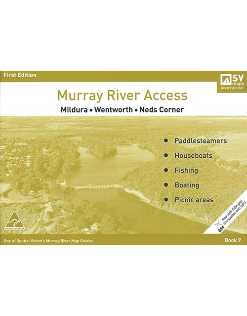 Murray River Access Map 9 Mildura To Neds Corner