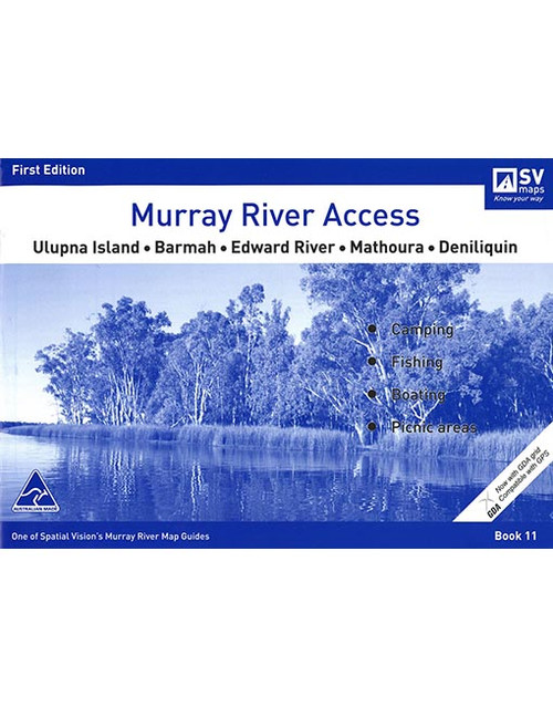 Murray River Access Map 11 Ulupna Island To Deniliquin