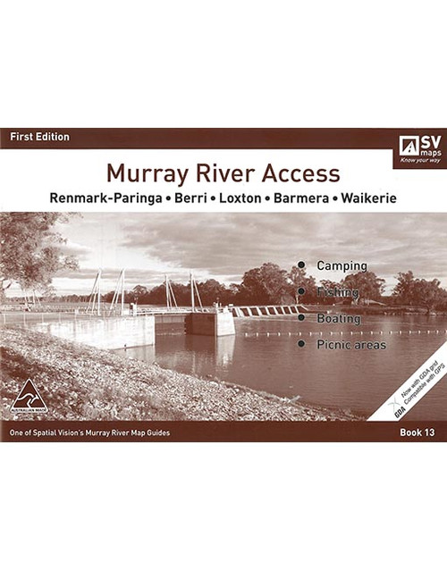 Murray River Access Map 13 Renmark To Waikerie