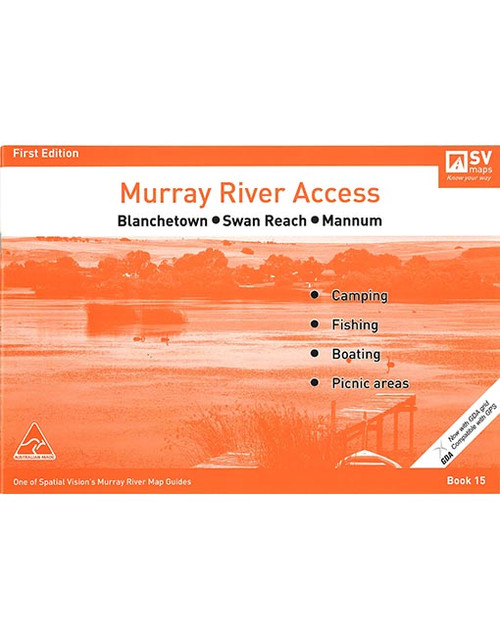 Murray River Access Map 15 Blanchetown To Mannum