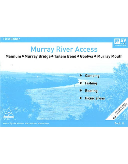 Murray River Access Map 16 Mannum To Murray Mouth
