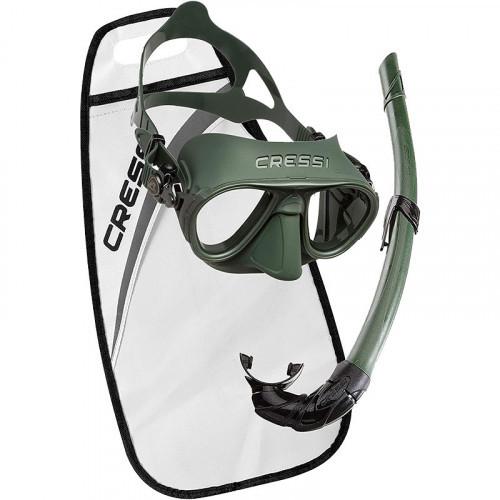 Cressi Calibro Corsica Mask Snorkel Set Green