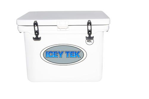 Icey Tek 40L Ice Box Cooler White