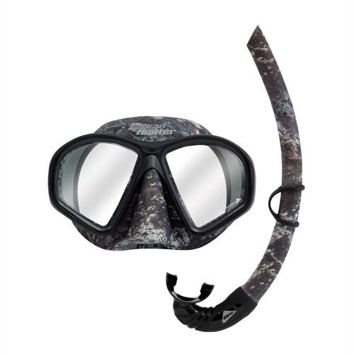 Ocean Hunter Phantom Camo Mottled Mask & Snorkel Set