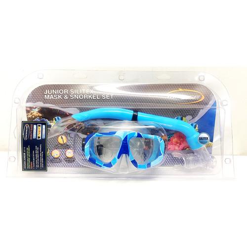 Mirage Ocean Junior Silitex Mask & Snorkel Set Blue