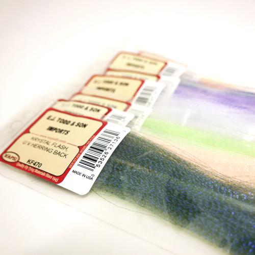 EJ Todd Krystal Flash Premium Colour Fly Tying Material