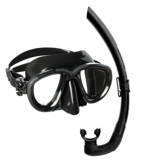 Mares Tana Mask Snorkel Set Black