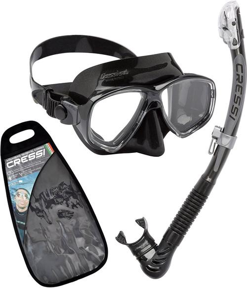 Cressi Marea Alpha Ultra Dry Mask & Snorkel Set Black