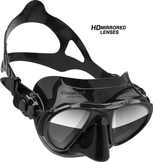 Cressi Nano Mask Black/Black Frame HD Mirror Lens