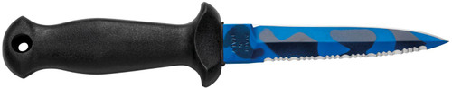 Mac Coltellerie Sub 11 D/2 Blue Camo Dive Knife With Lanyard