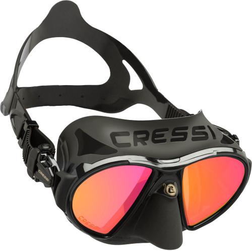 Cressi Zeus Dive Mask Black/Black Frame Iridium Lens