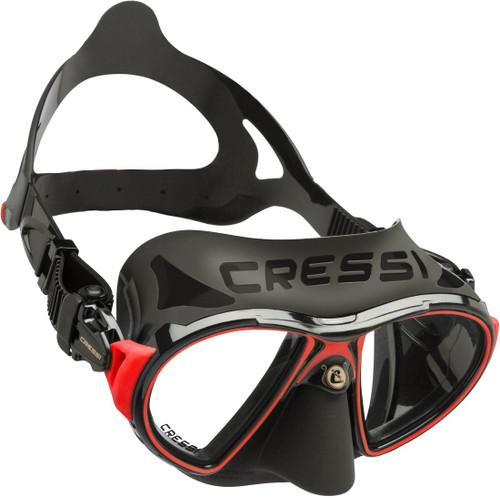 Cressi Zeus Dive Mask Black/Red Frame