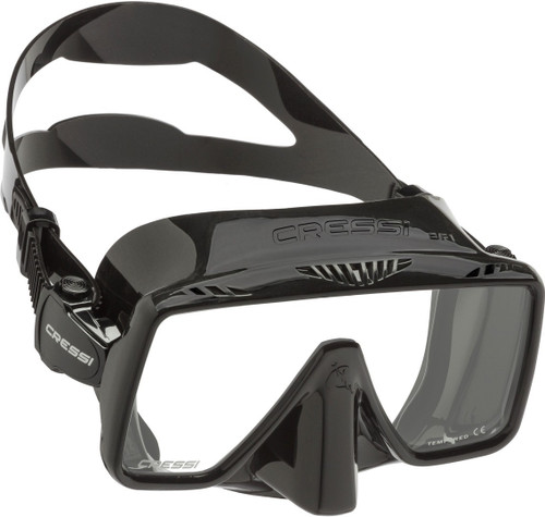 Cressi SF1 Dive Mask Black/Black Frame