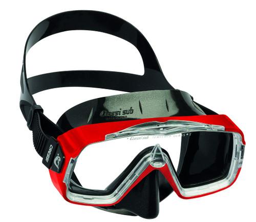 Cressi Sirena Dive Mask Black/Red Frame