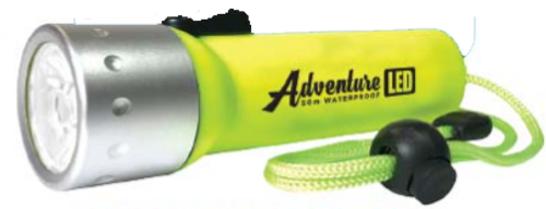 Land and Sea Adventure LED Torch Waterproof 50m