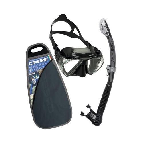 Cressi Penta + Alpha Mask Snorkel Set Black