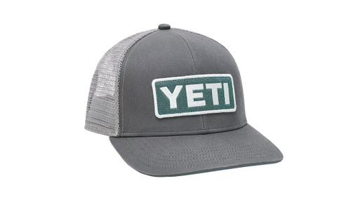 Yeti Mid-Profile Badge Trucker Hat - Dark Gray / Aquifer Blue