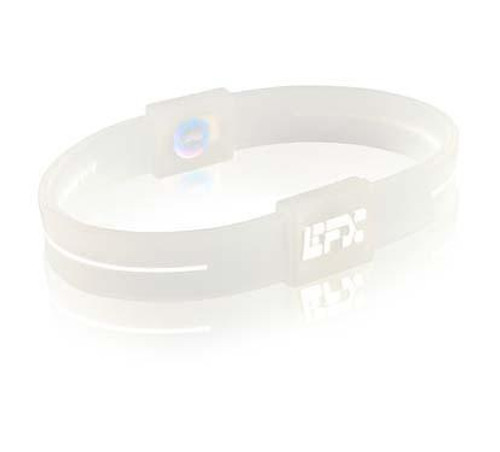 EFX Silicone Sport Wristband - White/Clear 8 Inch **CLEARANCE**