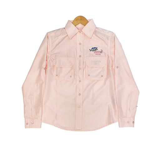 Samaki X TWAM Breeze Vented Long Sleeve Shirt - Blush