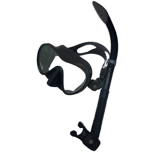 Ocean Pro Oberon Mask & Snorkel Set Black