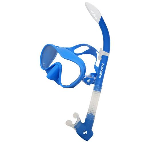 Ocean Pro Oberon Mask & Snorkel Set Blue