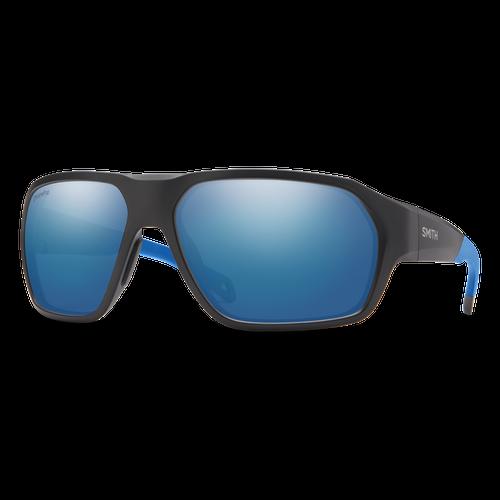 Smith Optics Deckboss Matte Black Blue / Glass Blue Mirror Polarised Sunglasses