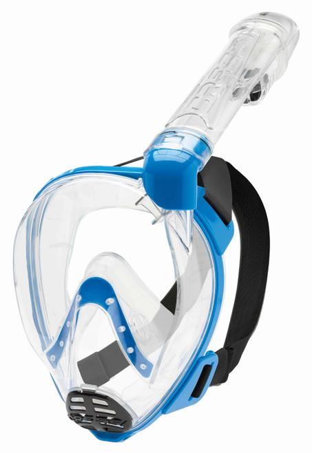 Cressi Baron Full Face Mask Clear/Blue M/L