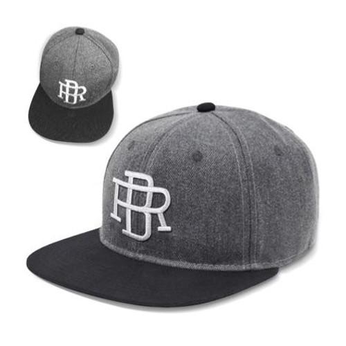 Reel Brand Premium Flat Peak Cap - Grey
