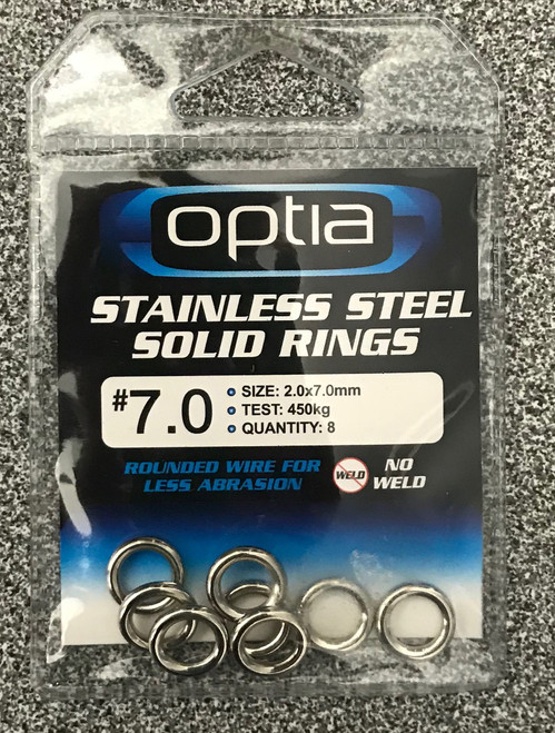 Optia Stainless Steel Solid Rings