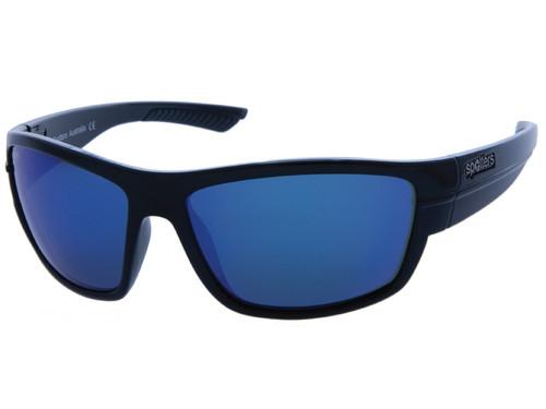 Spotters Nitro Gloss Black Crown Glass Sunglasses